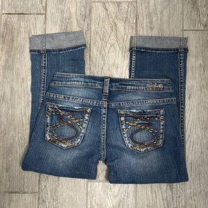 Silver Frances Capri Jeans Size 28